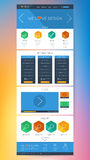 Colorful flat web site design page elements Royalty Free Stock Image