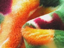 Colorful Fleece Blanket stock illustration