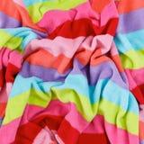 Colorful fleece cotton texture fabric Stock Photo