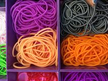 Raw art and craft material for kids hobby. Royalty Free Stock Image