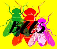Colorful Flies Background Royalty Free Stock Photos