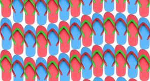 Colorful flip flop on white background Stock Image