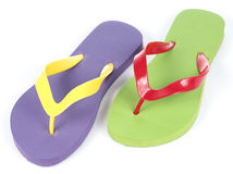 Colorful Flip flop on White background Royalty Free Stock Images