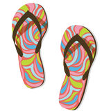 Colorful flip flops Stock Photography