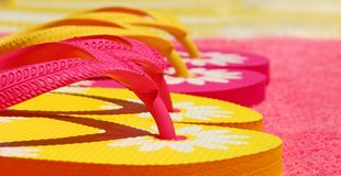 Colorful Flip Flops Royalty Free Stock Images