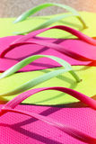 Colorful flip flops Stock Photo