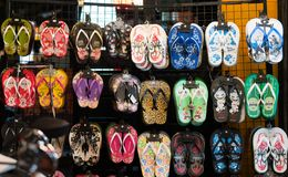 Colorful Flip-flops Goods royalty free stock images