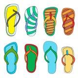 Colorful flip flops Stock Image