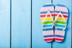 Colorful flip flops shoe Stock Photo