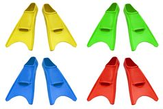 Colorful flippers Royalty Free Stock Photos
