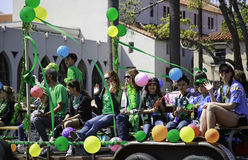 Colorful Float at St. Patrick's Day Parade Royalty Free Stock Photo