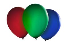 Colorful floating balloons Stock Images