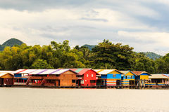 Colorful of Floating houses Royalty Free Stock Photo