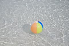Colorful floating swimming pool ball Royalty Free Stock Photo