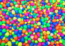 Colorful of floating toy egg for color background Stock Image