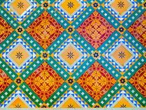 Colorful floor decoration in Junagarh Fort Royalty Free Stock Photography