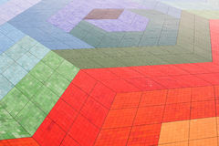 Colorful floor tiles Stock Photo