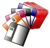 Colorful floppy disk Stock Photos