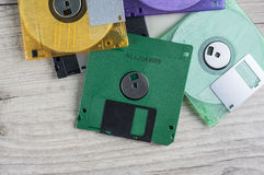 Colorful floppy Disks Royalty Free Stock Image