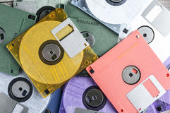 Colorful floppy Disks Stock Photography