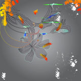 Colorful floral background. Universal template for greeting card, web page, background Stock Photography