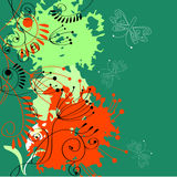 Colorful floral background. Universal template for greeting card, web page, background Stock Images