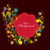 Colorful floral background. Easy to edit vector illustration of colorful floral background Stock Photos