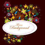 Colorful floral background. Easy to edit vector illustration of colorful floral background Royalty Free Stock Image