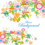 Colorful floral background. Easy to edit vector illustration of colorful floral background Royalty Free Stock Photography