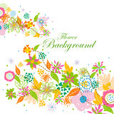 Colorful floral background. Easy to edit vector illustration of colorful floral background Stock Image
