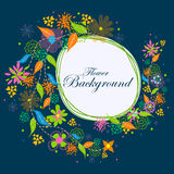 Colorful floral background. Easy to edit vector illustration of colorful floral background Stock Images