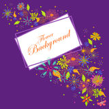 Colorful floral background. Easy to edit vector illustration of colorful floral background Stock Photography