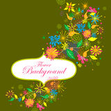 Colorful floral background. Easy to edit vector illustration of colorful floral background Royalty Free Stock Images