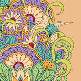 Colorful floral background. Hand drawn doodle colorful  floral background with mandalas. Vector illustration - eps 10 Royalty Free Stock Photo