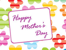 Colorful floral background for mothers day Stock Images