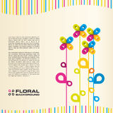 Colorful floral background. Vector. Abstract vector illustration depicting floral layout background Royalty Free Stock Photo