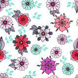 Colorful floral background on white Stock Photo