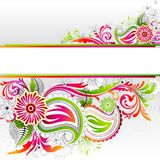 Colorful Floral Banner Stock Images