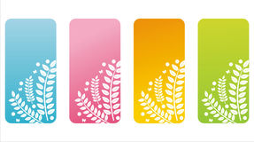 colorful floral banners Royalty Free Stock Photography