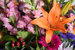Colorful floral bouquet Royalty Free Stock Photography