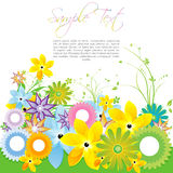 Colorful floral card Stock Photography