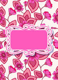 Colorful Floral Card With Banner Royalty Free Stock Photo