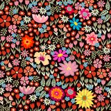 Colorful floral carpet. Royalty Free Stock Photos