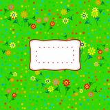 Colorful floral decorative background with sticker Royalty Free Stock Images