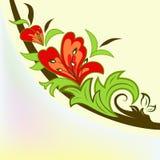 Colorful floral design element Stock Photos