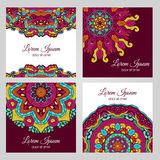 Colorful floral design elements Royalty Free Stock Photography