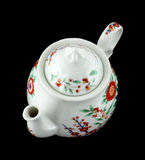 Colorful floral design teapot Royalty Free Stock Photography