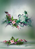 Colorful floral designs Stock Photo