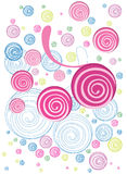 Colorful floral doodle Stock Photography