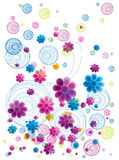 Colorful  floral doodle Royalty Free Stock Photography